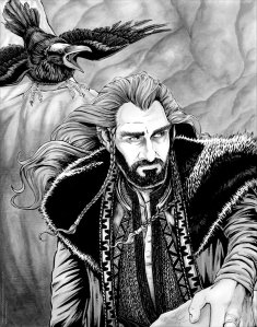 thorin_oakenshield_and_roac_the_raven_by_cfgriffith-d7psy6l
