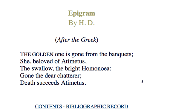 H.D. Epigram